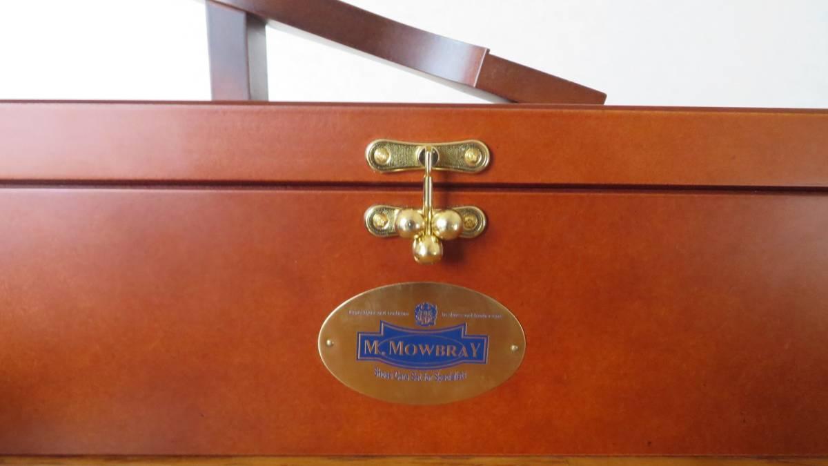 M.MOWBRAY モウブレイ シューケア ボックス サフィール ブリフトアッシュ クリーム ワックス パラブーツ トリッカーズ 平野ブラシ resolute_画像5