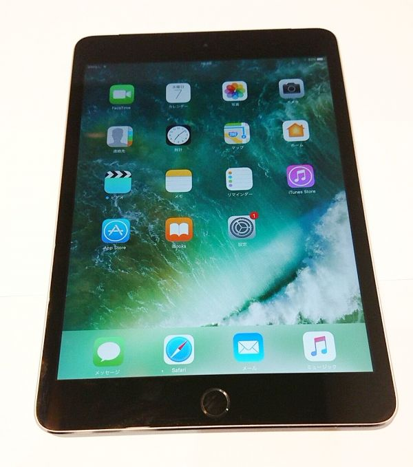 □【Cランク】Apple SoftBank iPad mini3 Cellular 16GB スペースグレイ MGHV2J/A 〇判定 KF-133