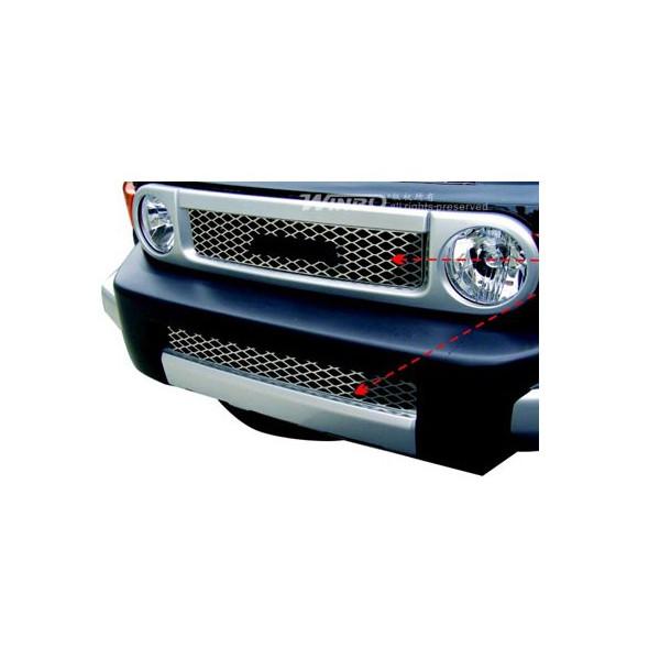 トヨタ FJクルーザー WINBO ステンレス メッシュ グリル&バンパー アッパー&ロア セット 2PC ディーラー車用 【E098600A1】_画像4