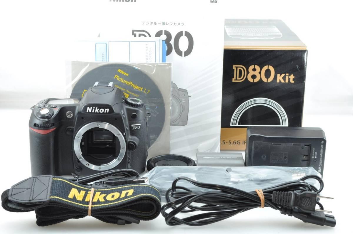 ★箱付き新品級★ ニコン NIKON D80 ボディ ★付属品完備★#2834