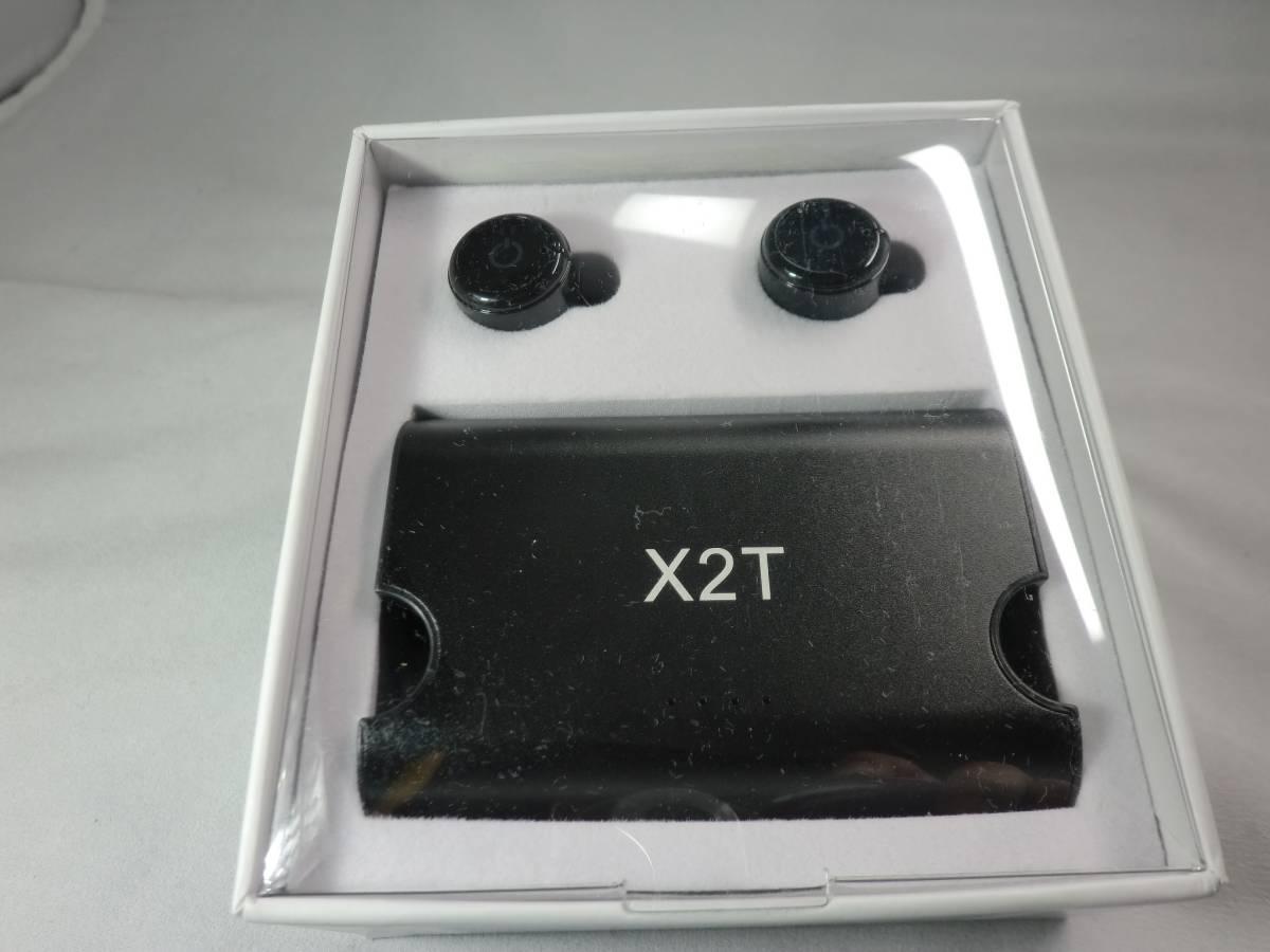 (ブラック)X2T 高音質Bluetooth ワイヤレスイヤホン 片耳 両耳とも対応 ワンボタン設計 通話可 防汗 防滴 iPhone Android 対応