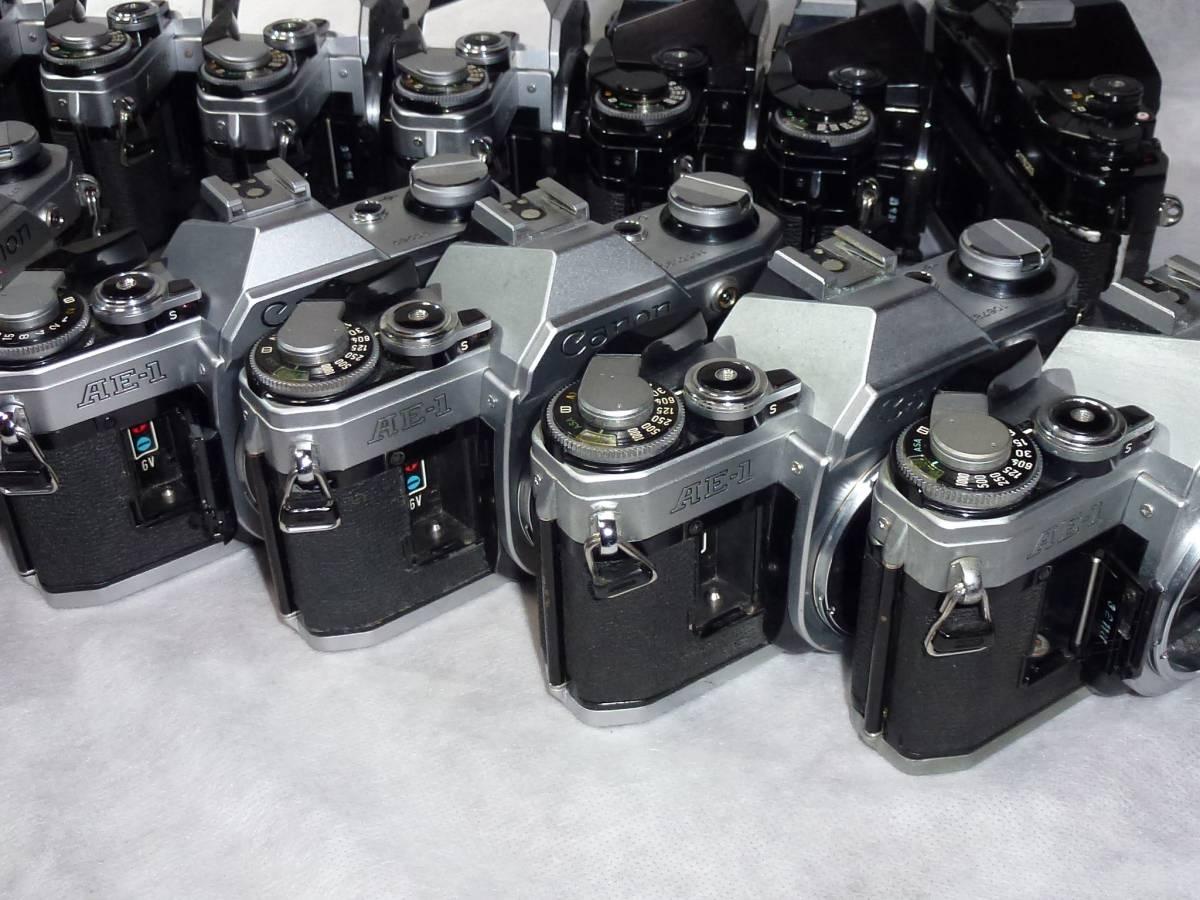 ジャンク品大量 キヤノンAE-1 14台 A-1、AE-1プログラム各1台 ストロボ6個+オマケ_画像6