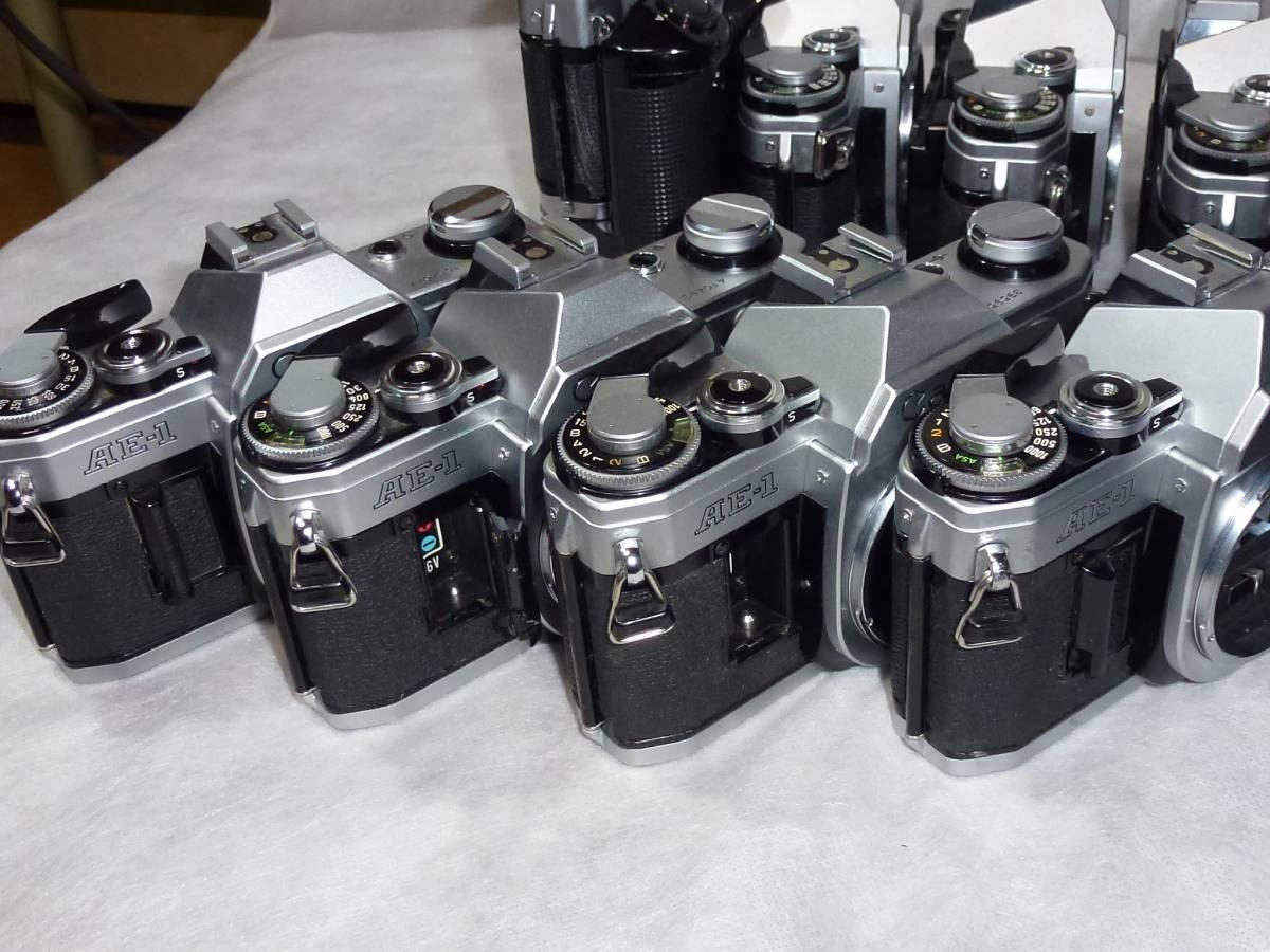 ジャンク品大量 キヤノンAE-1 14台 A-1、AE-1プログラム各1台 ストロボ6個+オマケ_画像7