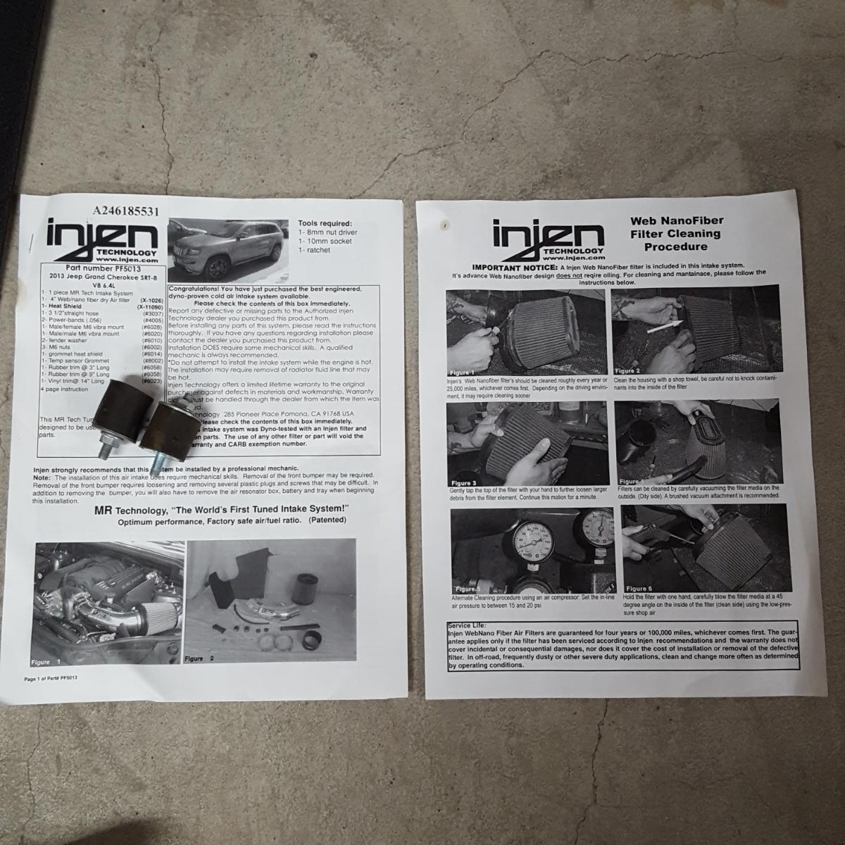 【Injen】インジェン エアーインテークシステム グランドチェロキー SRT8 WK57A 美品 売り切り!_画像3