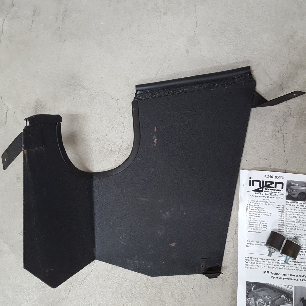 【Injen】インジェン エアーインテークシステム グランドチェロキー SRT8 WK57A 美品 売り切り!_画像4
