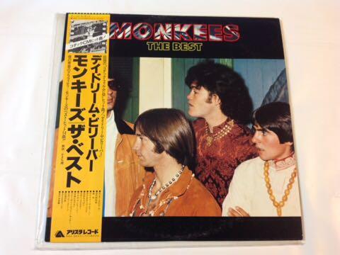 MONKEES モンキーズ LPレコード「THE BEST ザ・ベスト」デイドリーム・ビリーバー他 全14曲 帯付き ARISTA RECORDS_画像1