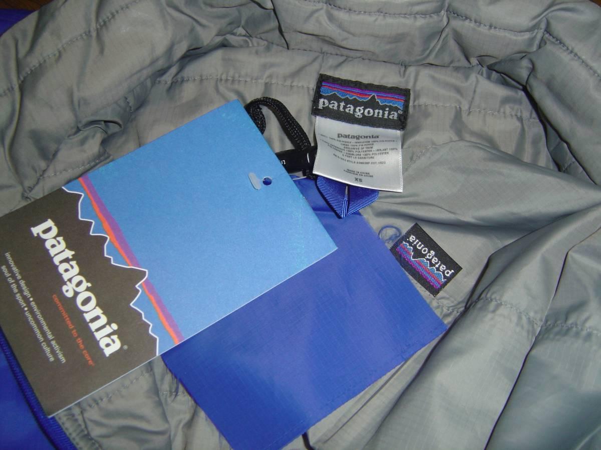 パタゴニア PATAGONIA MICRO PUFF PULOVER マイクロ パフ プルオーバー ジャケット レトロX グリセード XS 紫 コバルト フリース スナップT_画像6