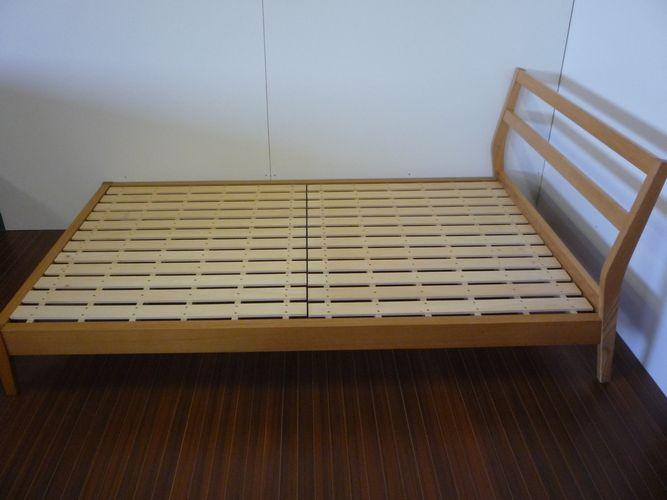 Muji Ryohin ] Japanese ash semi-double size bed frame / direct ...