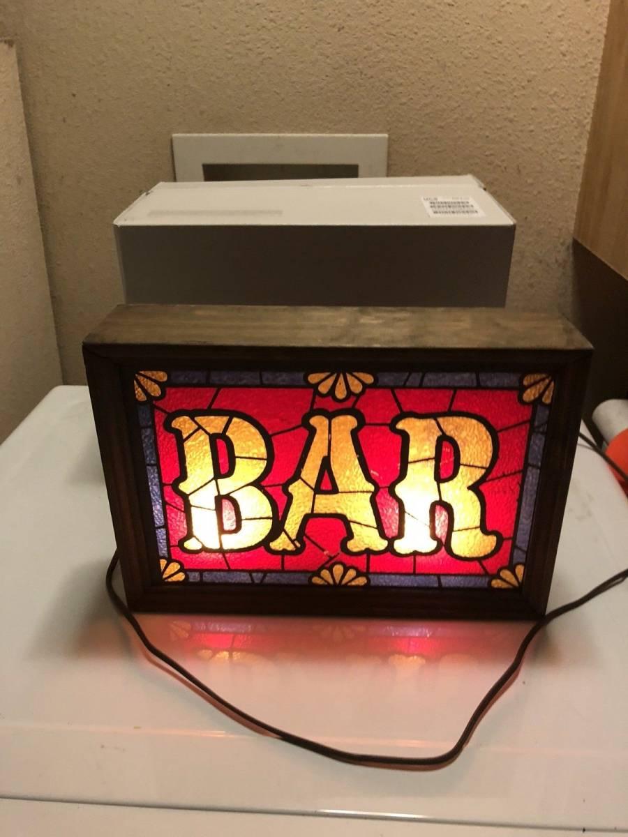 ビンテージ 看板 ステンドグラス ライトアップビール Barware IMS Corp. _画像3