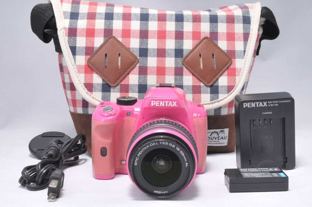 ■カワイイ■ ペンタックス PENTAX K-r ピンク×ピンク 安心の6ヶ月返金保証 #CK-25F18-231