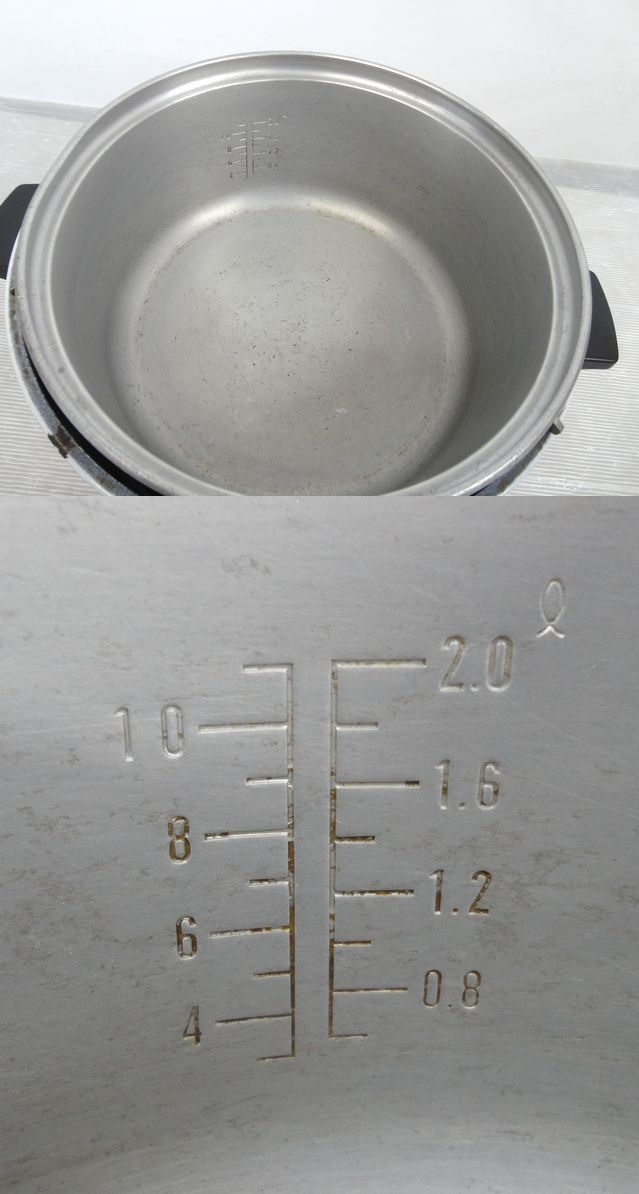 【Nか075】Paloma パロマ ガス炊飯器 3合~11合炊き 保温付き 2L LP プロパン ガス ジャー 業務用 食堂 店舗 レストラン 点火OK ジャンク_画像8