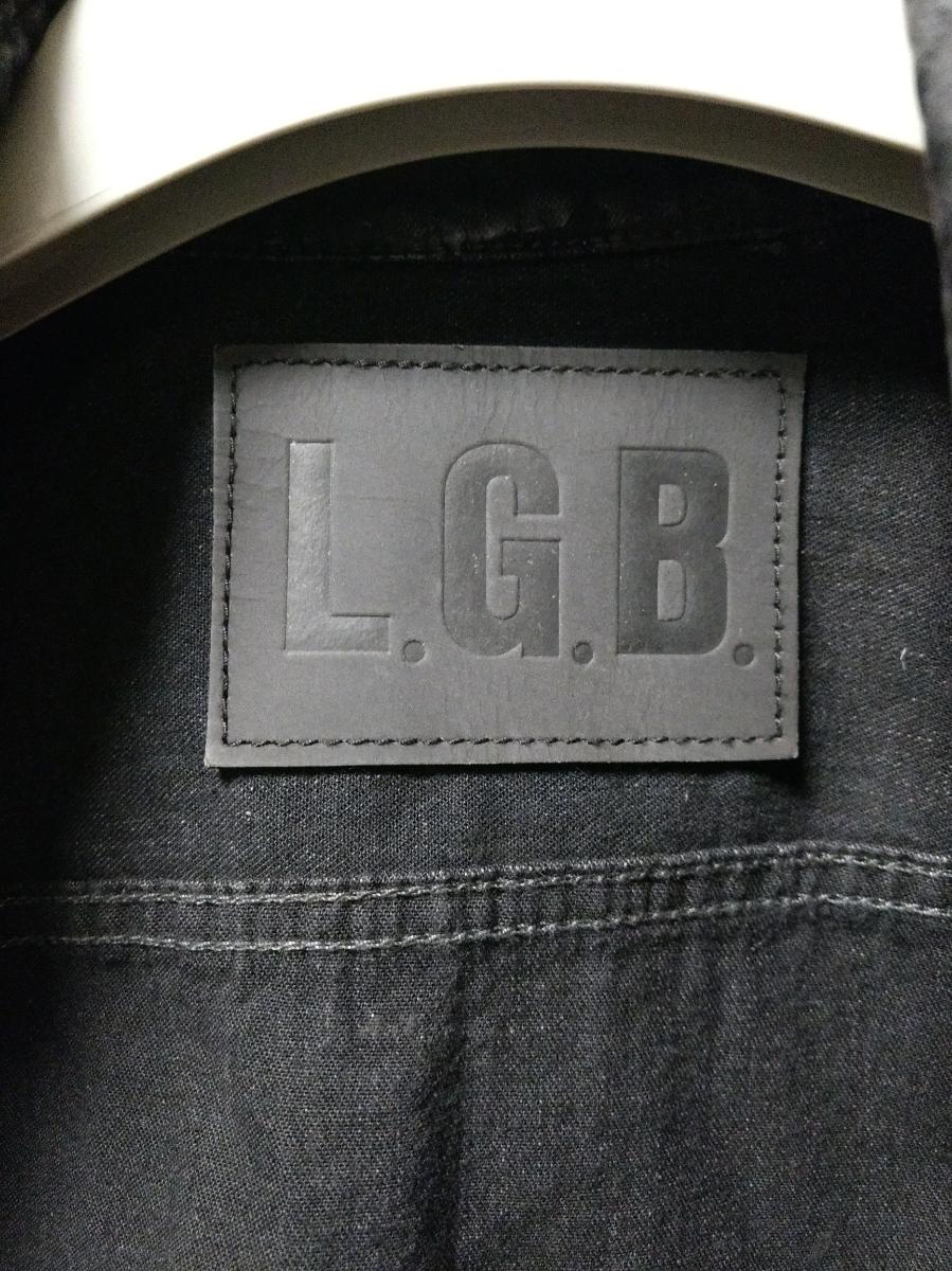 LGB ダブルジップ コーティングライダースジャケット_画像5