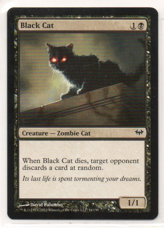 即決 黒猫/Black Cat 1枚 (日本語版4枚英語版4枚有)_画像1
