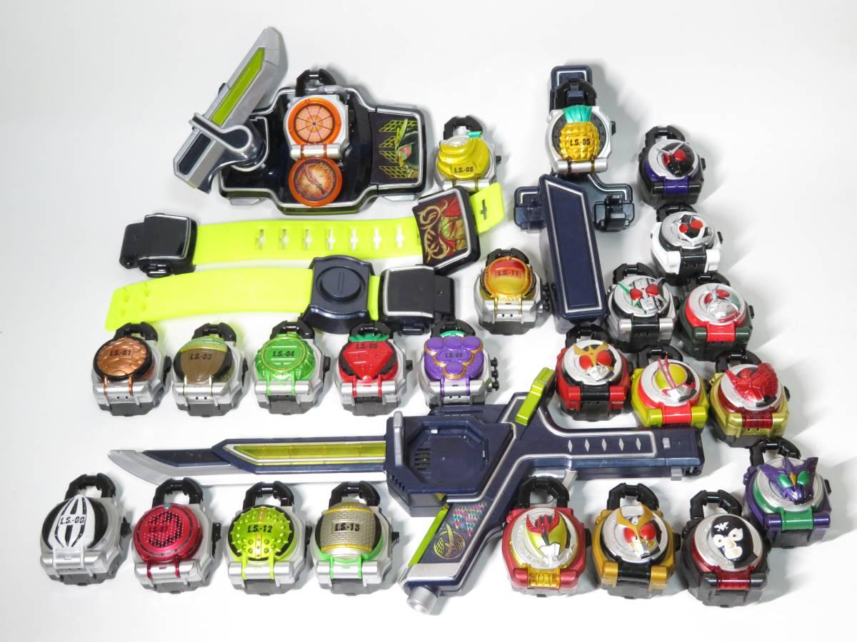 仮面ライダー 鎧武 ガイム DX 戦極ドライバー 無双セイバー 変身ベルト DXロックシード 大量 セット まとめ