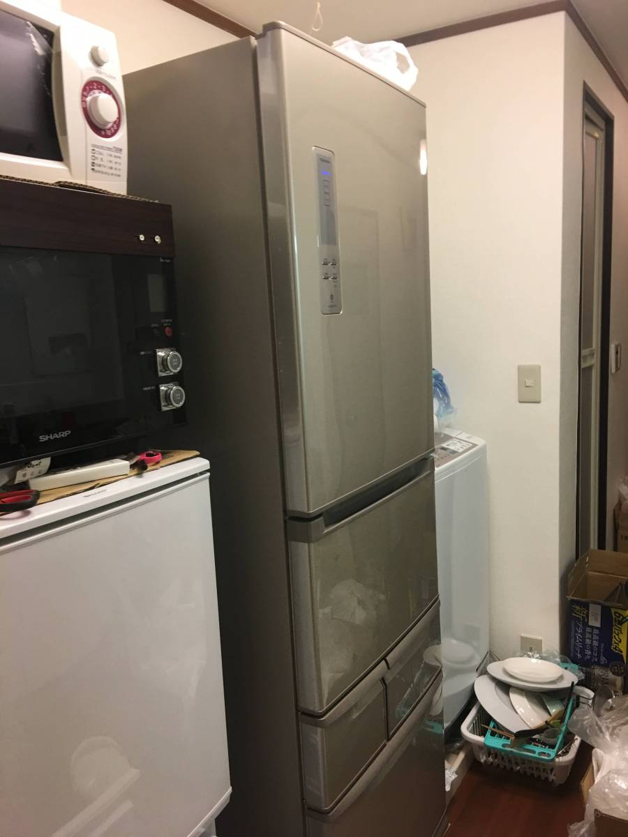 東芝 冷凍冷蔵庫 VEGETA 5ドア自動製氷機能付省エネ ノンフロン 427リットル GR432-GS(NU)2012年 中古 美品_画像7