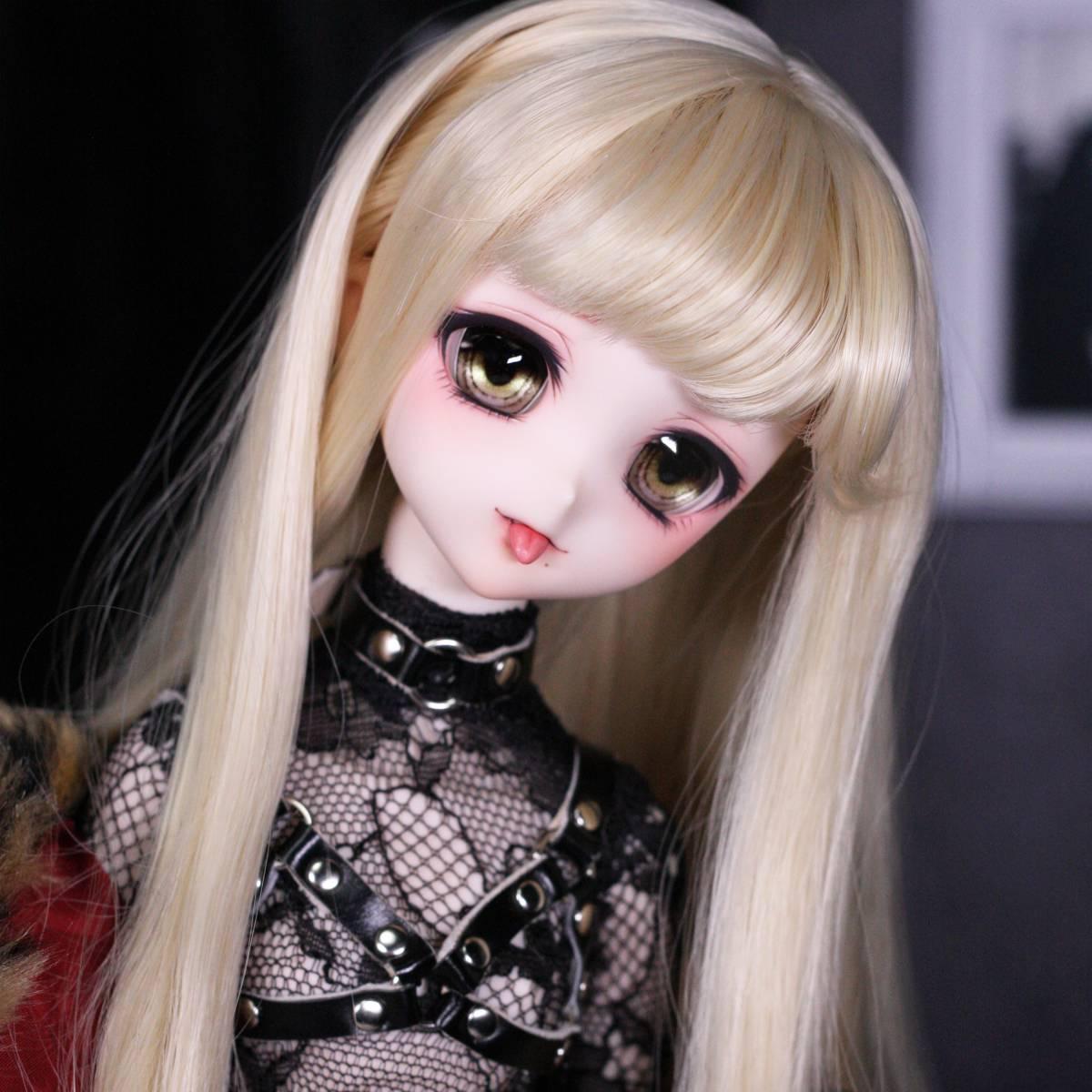 [ぴぴぴ]DDH-10(セミホワイト肌)カスタムヘッド+舌パーツ+アイ+ウィッグ+MDD用衣装セット