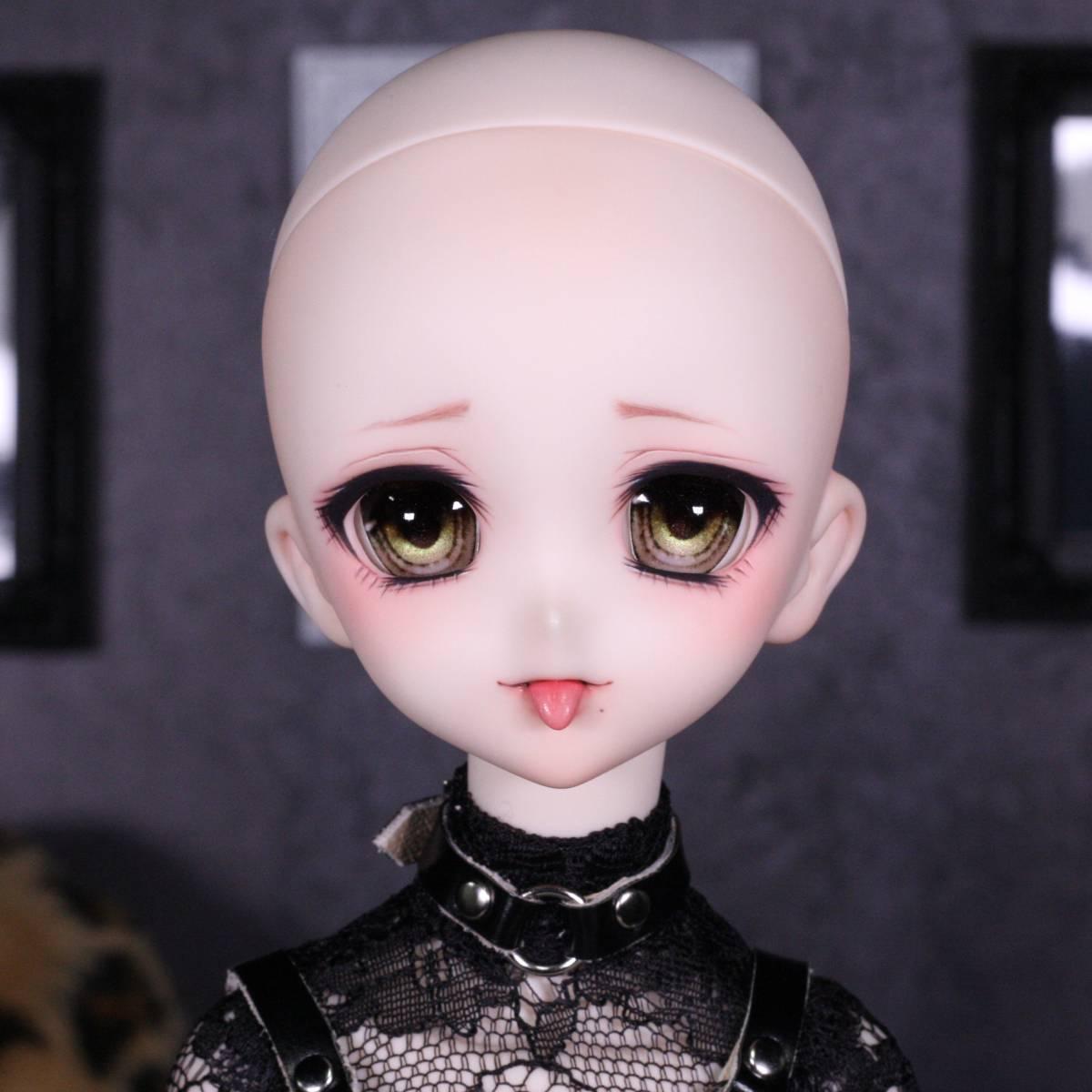 [ぴぴぴ]DDH-10(セミホワイト肌)カスタムヘッド+舌パーツ+アイ+ウィッグ+MDD用衣装セット_画像10
