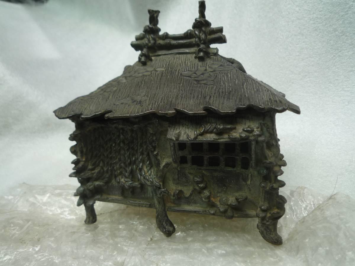 在銘葛屋香炉。縄のれん。黄銅製。送料無料。