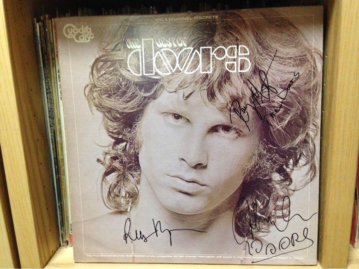 The Doors ザ・ドアーズ直筆サイン入りレコード『THE BEST OF doos』Ray Manzarek, Robby Krieger, John Densmore