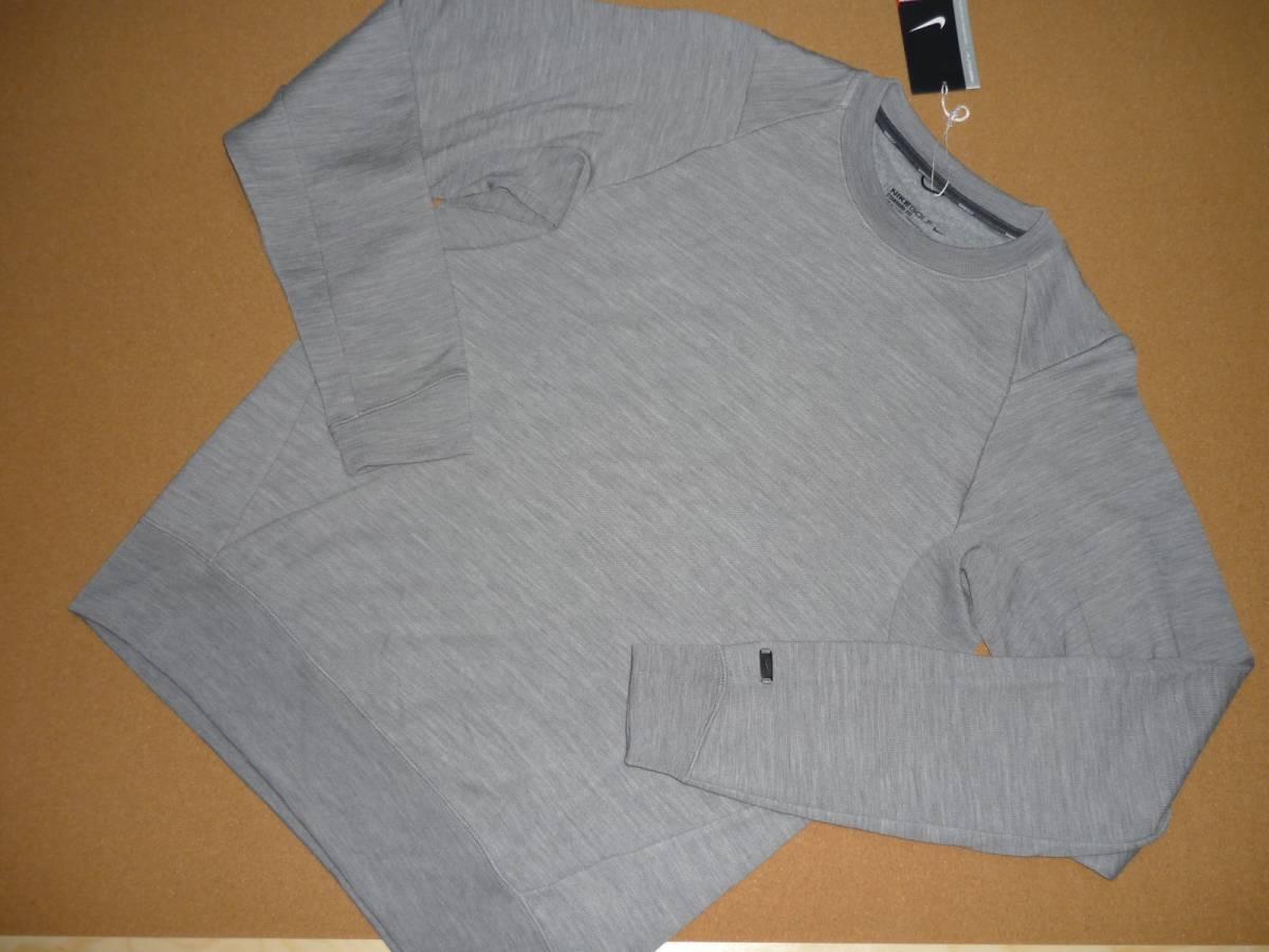 最後 XL NIKE GOLF 定価27000円 高級 ウール ニット クルー 検 ナイキゴルフ ジャケット セーター ベスト グレー ポロ シャツ_画像9