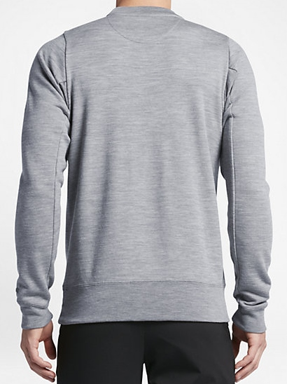 最後 XL NIKE GOLF 定価27000円 高級 ウール ニット クルー 検 ナイキゴルフ ジャケット セーター ベスト グレー ポロ シャツ_画像4