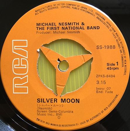 ★マイク・ネスミス「シルバー・ムーン」EP(1970年)初版ジャケSS-1988★_画像3