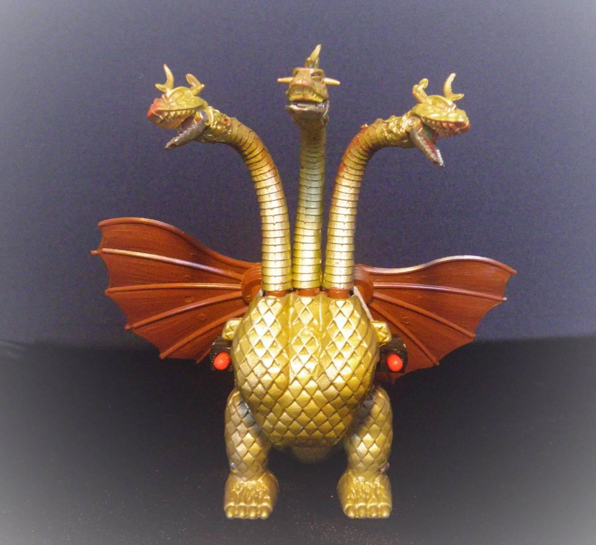 【キングギドラ】 ブルマァク製 ブルペットZ合金 ジンクロン 1970年代 東宝 おもちゃ_画像2