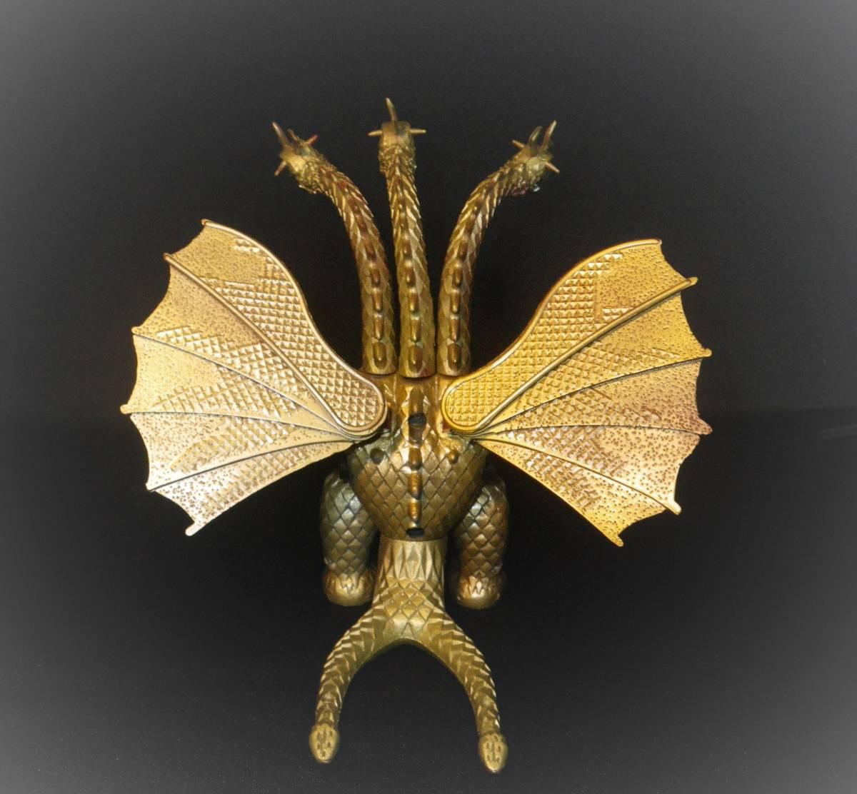 【キングギドラ】 ブルマァク製 ブルペットZ合金 ジンクロン 1970年代 東宝 おもちゃ_画像3