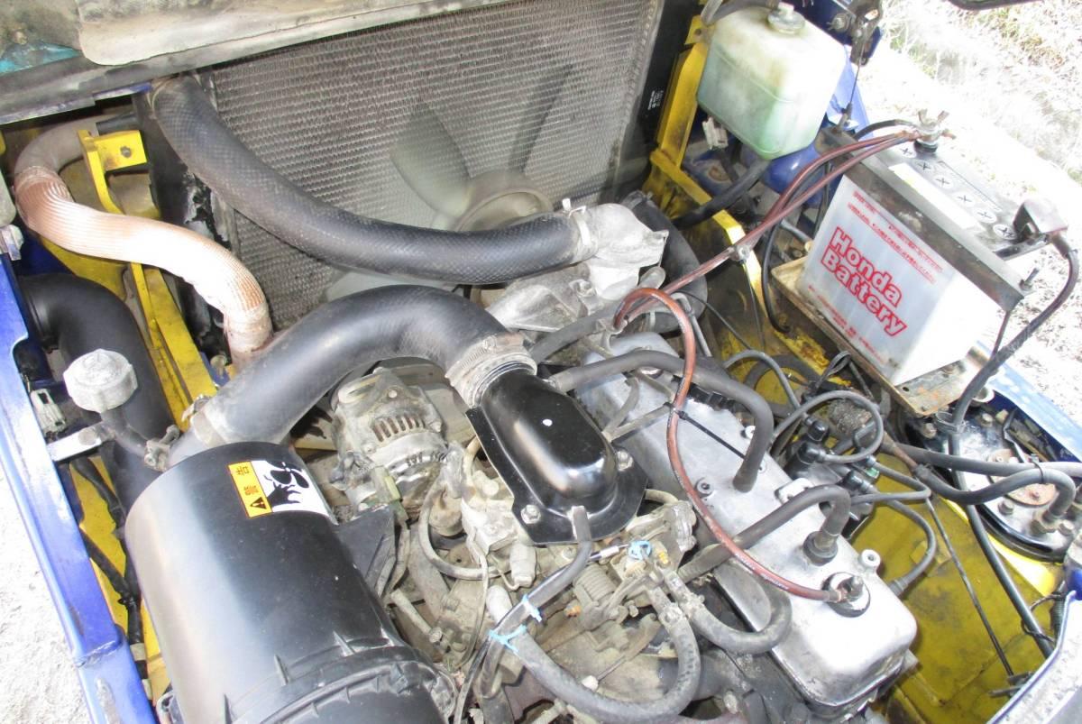 コマツ 中古 フォークリフト 1.5t ガソリン FG15C-16 2000年 揚高3m ノーパンクタイヤ 神戸から (KOMATSU 1500kg 即活躍の現役リフト)_画像9