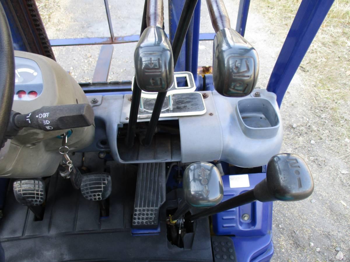 コマツ 中古 フォークリフト 1.5t ガソリン FG15C-16 2000年 揚高3m ノーパンクタイヤ 神戸から (KOMATSU 1500kg 即活躍の現役リフト)_画像7
