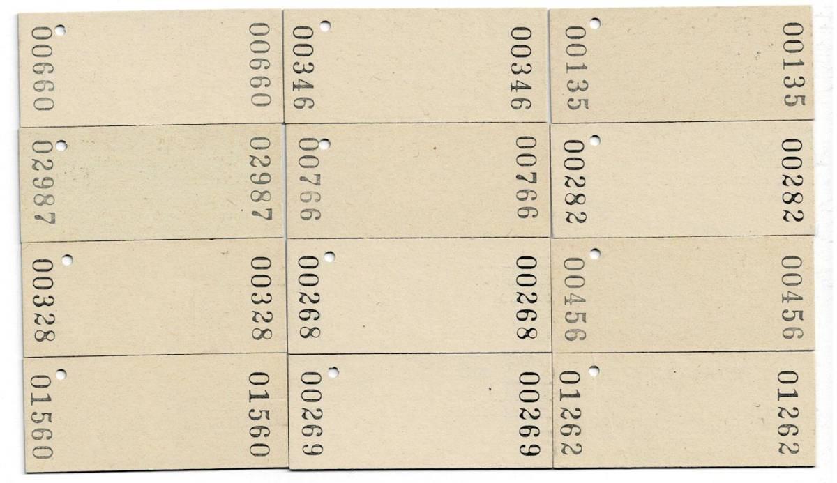 国鉄 110円 入場券 仙台印刷 12枚セット 未使用 パンチ無し やけあり_画像2