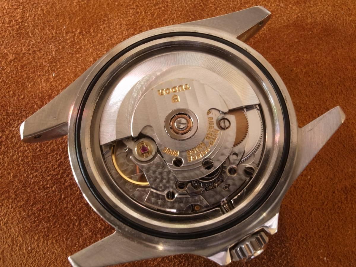高年式 TUDOR SUBMARINER 75090 自動巻 メンズ 巻きブレス 1988年 OVH済み_画像10