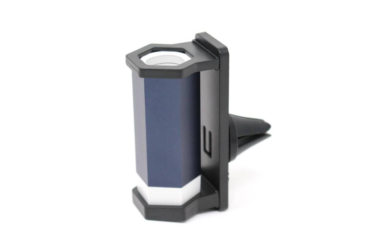 iQOSホルダー車載アルミ充電器 ネイビー カーチャージャー アイコス ホルダー 2.4 plus USB対応_画像3
