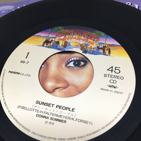 Donna Summer Sunset People【ソウル:EP:7inc:EN-02】_画像2