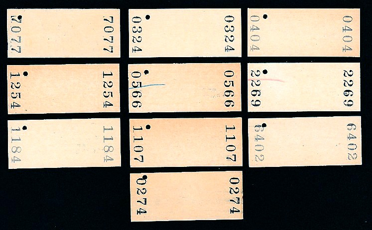 昭和49~59年  室蘭本線  岩見沢から竹浦  30円~120円  入場券  10駅_画像2