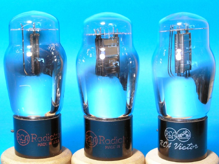 3極出力管 RCA 71A ST管 1937-1938年 3本組