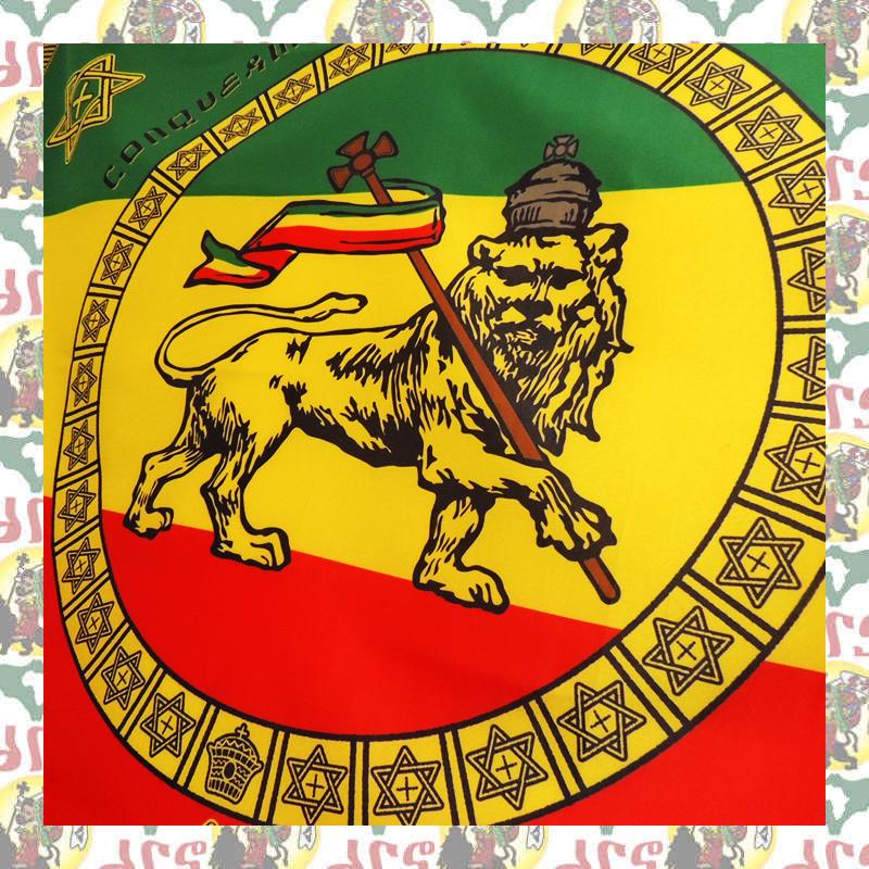 【drs】エチオピア 皇帝ハイレセラシエ一世 Imperial Standard 大 (レゲエ フラッグ ライオン ラスタ JAH ETHIOPIA HAILE SELASSIE)_画像5