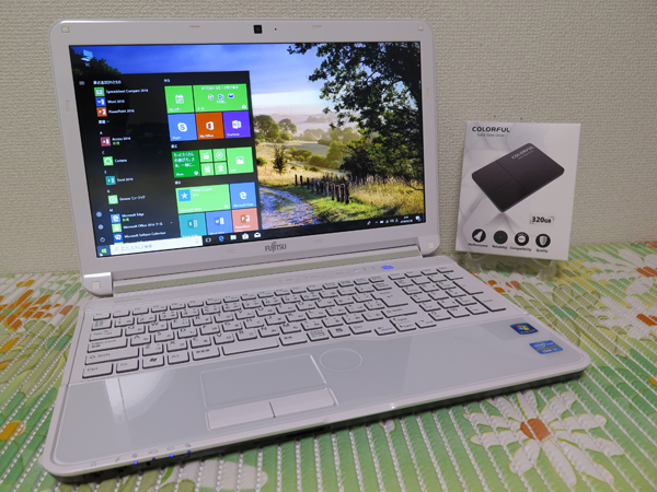 【高速Core i7★爆速SSD】富士通 AH56/G ホワイト 新品SSD320GB 最新Win10 ★ メモリ8GB