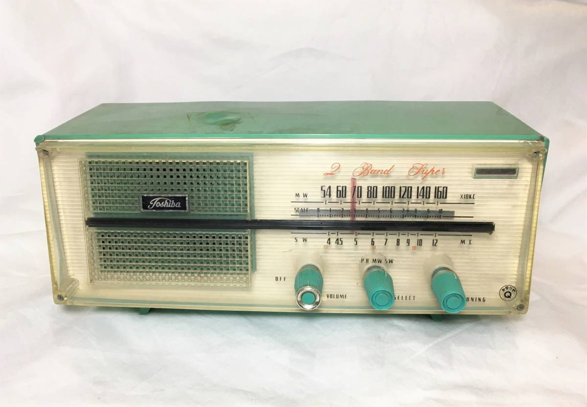 ★昭和レトロ!TOSHIBA 東芝 かなりやQ 真空管ラジオ 5YC-606 ジャンク
