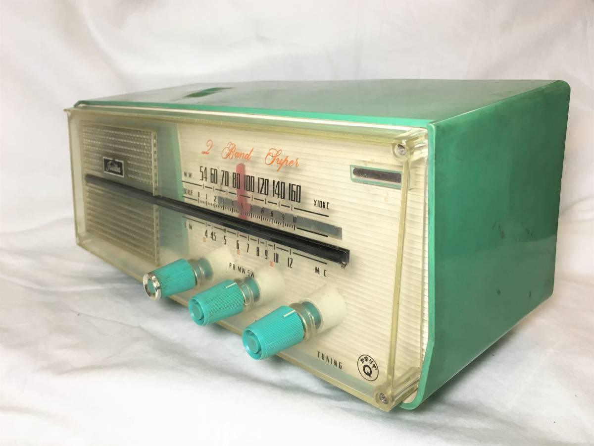 ★昭和レトロ!TOSHIBA 東芝 かなりやQ 真空管ラジオ 5YC-606 ジャンク_画像2