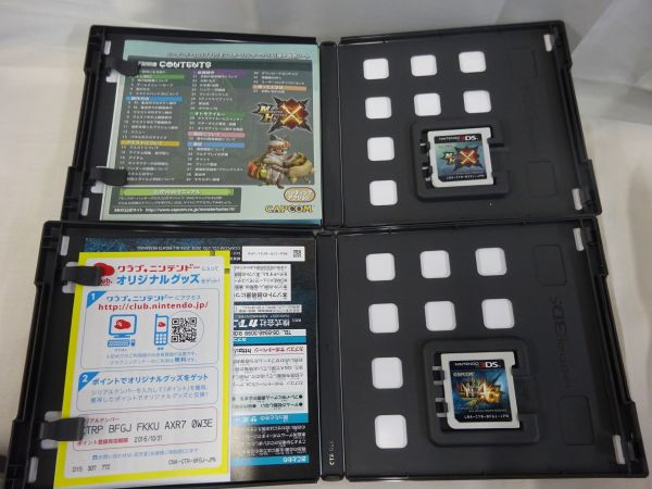 FG802)モンスターハンター4G.3Gトライ.クロス 4枚セット ニンテンドー3DSゲームソフト_画像5