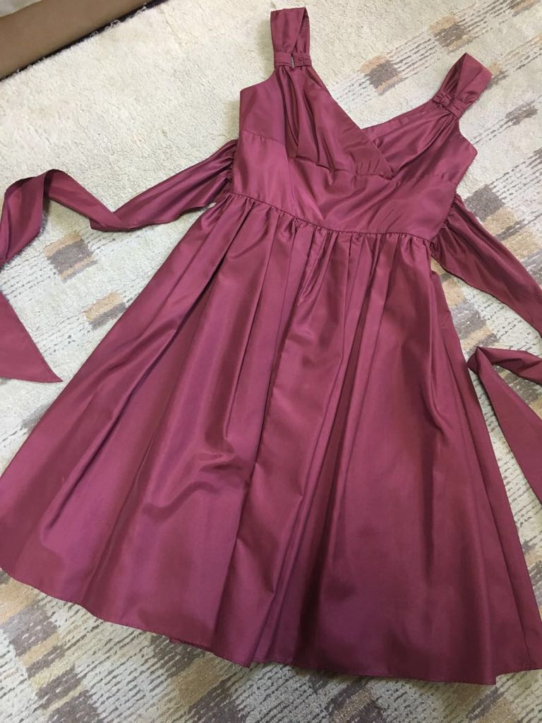 681ee1716dfdb エメ AIMER ワインレッド 赤 ドレス フォーマル 結婚式 発表会 演奏会 ワンピース OP JSK