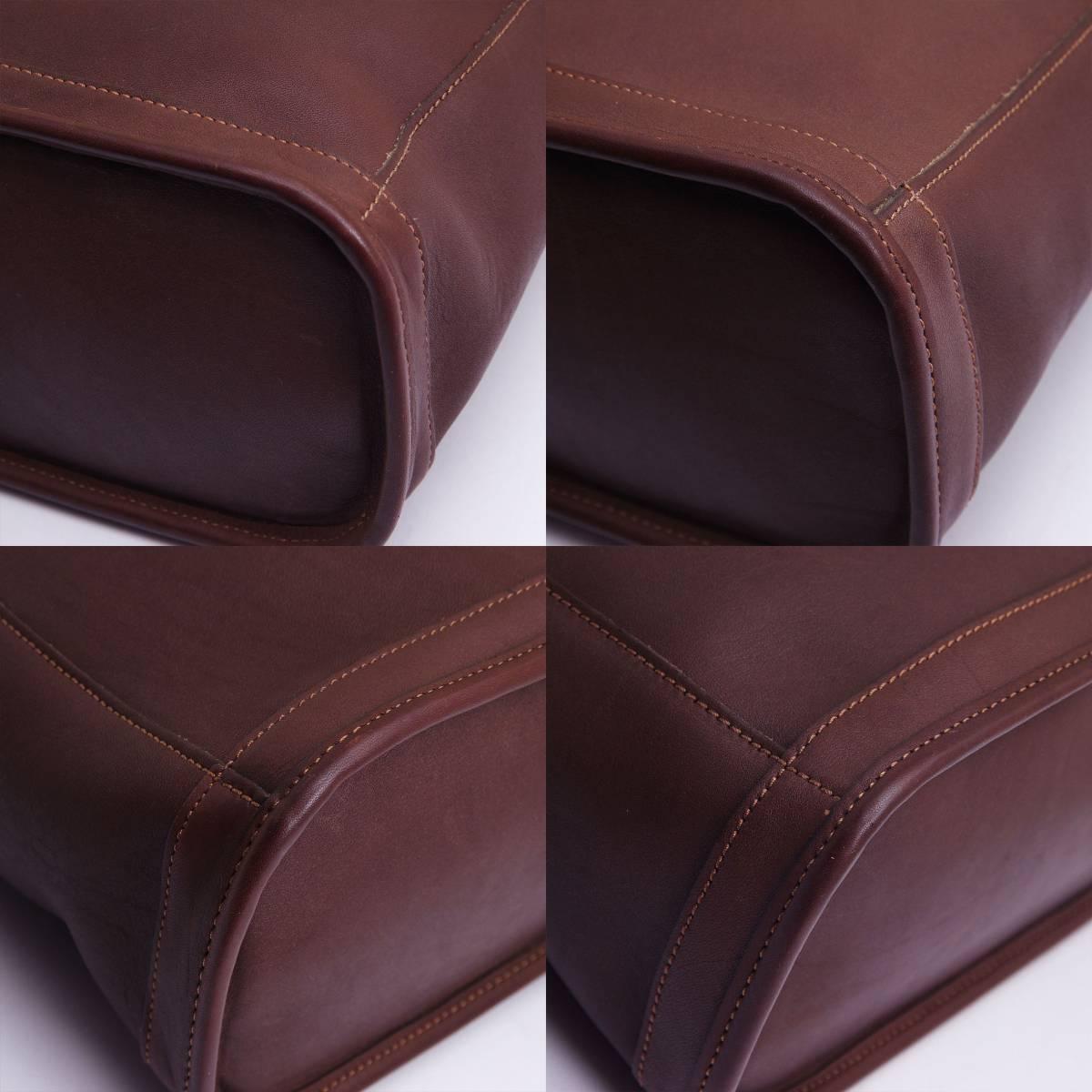 極美品 オールドコーチ アメリカ製 COACH トートバッグ ビジネスバッグ ダークブラウン レザー メンズバッグ 牛革 ヴィンテージ 定価6万_画像5