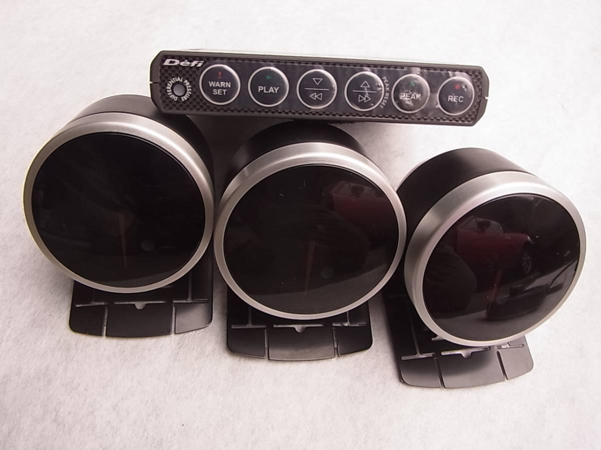 絶版 NA6CE NA8C ユーノス ロードスター Defi デフィ ADVANCE BF 60φ 3連 水温 油温 排気温 リンクユニットⅡ センサー 取説 おまけ付_画像3