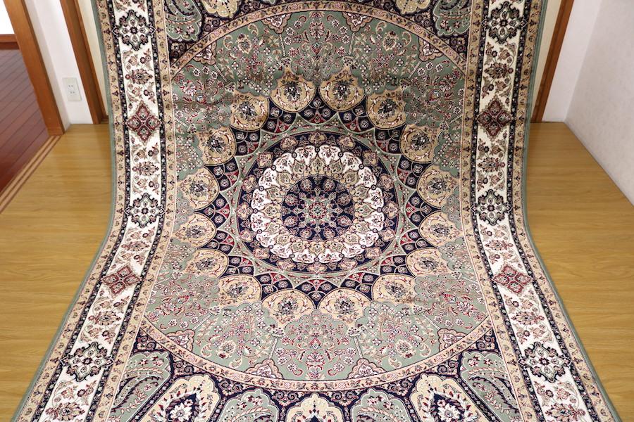 ペルシャ柄絨毯 150万ノット 新品未使用 160×230 訳あり アウトレット グリーン
