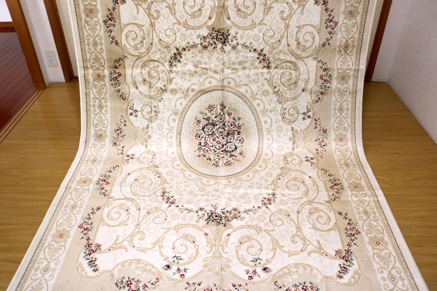 ペルシャ柄絨毯 150万ノット 新品未使用 160×230 訳あり アウトレット アイボリー