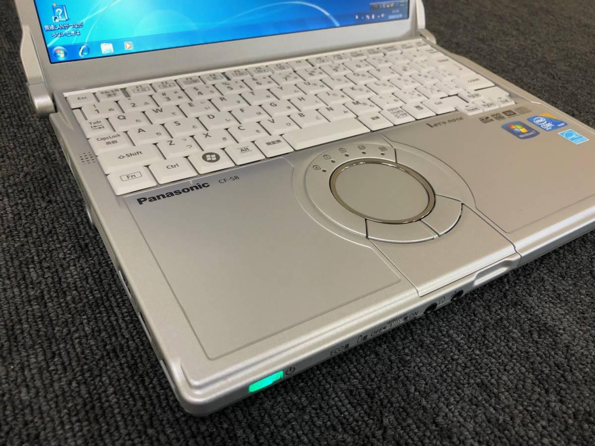 01-A227S【Panasonic】Let's note CF-S8HWECDS C2D P8700/2GB/250GB/DVDマルチ/12.1型/Win7 Pro★リカバリ済み★_画像2