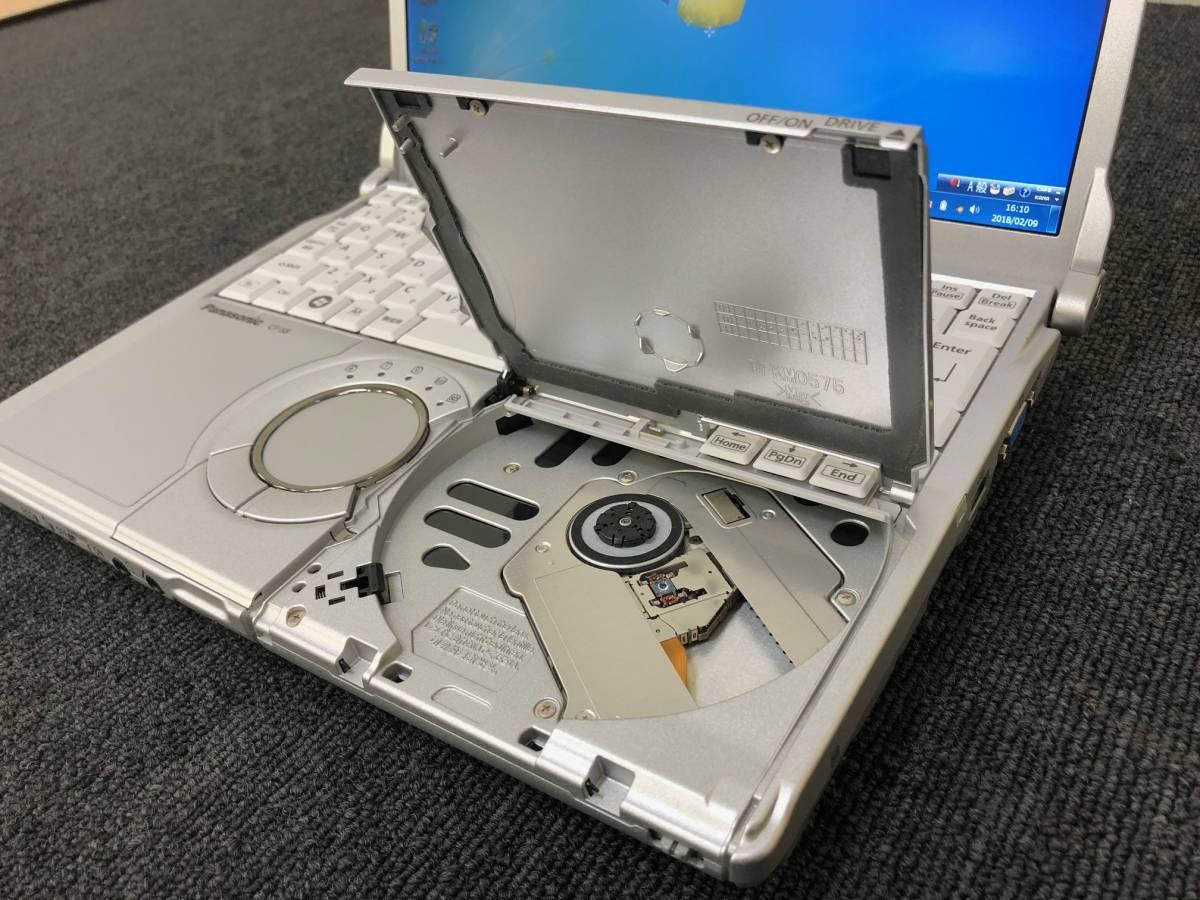 01-A227S【Panasonic】Let's note CF-S8HWECDS C2D P8700/2GB/250GB/DVDマルチ/12.1型/Win7 Pro★リカバリ済み★_画像3