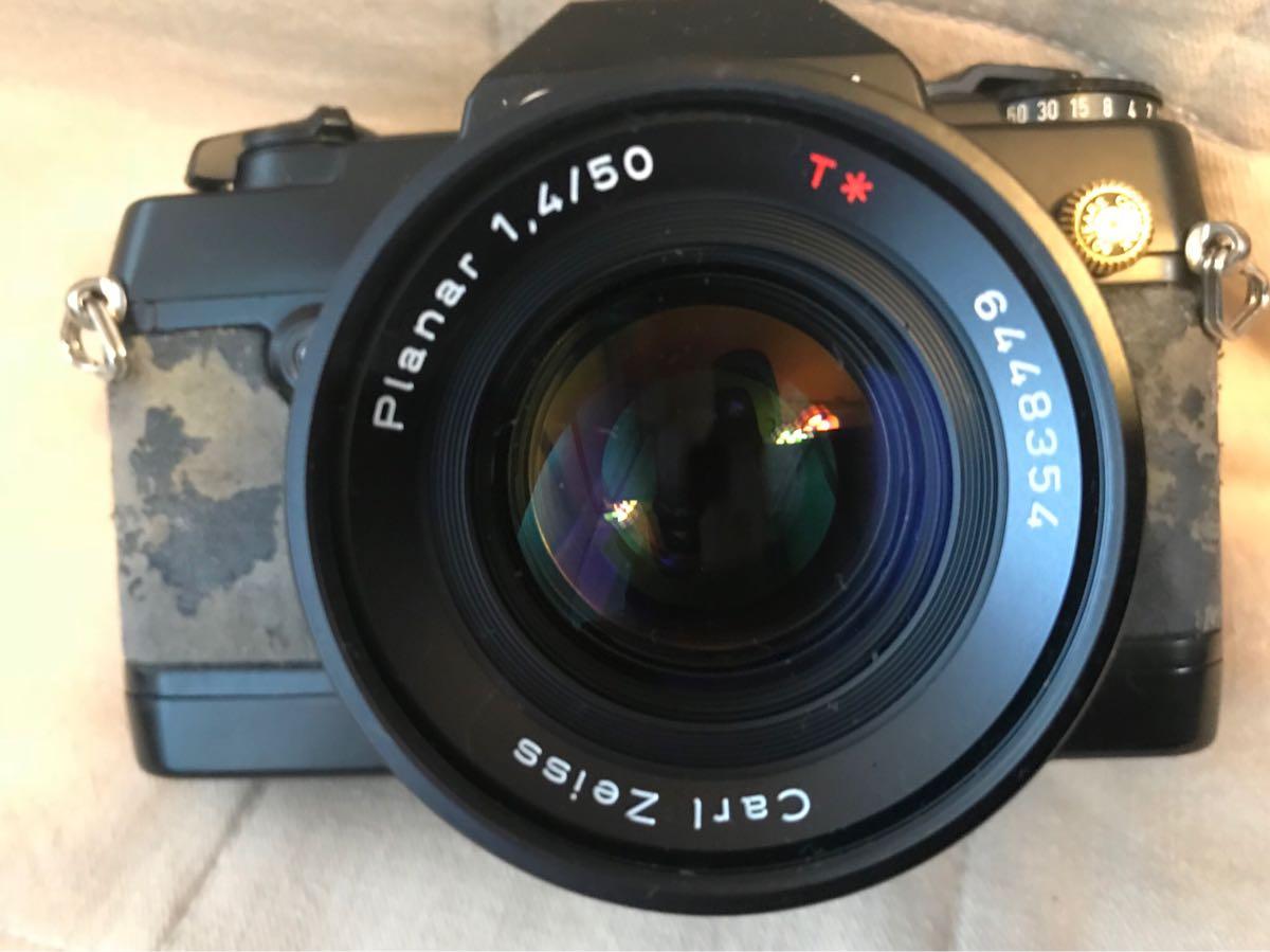 CONTAX コンタックス 137 MA QUARTZ フィルムカメラ 取説 純正ストラップ付 ジャンク品_画像2