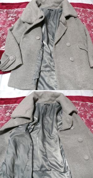 可愛いガーリー灰色ロングコート/外套 Cute girly gray long coat_画像2